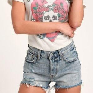 Levi's distressed denim shorts (28)